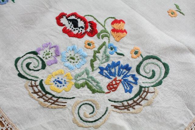 ビンテージ/ハンドメイド刺繍